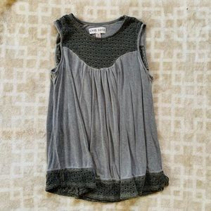 Knox Rose, knit and glitter trim tank top